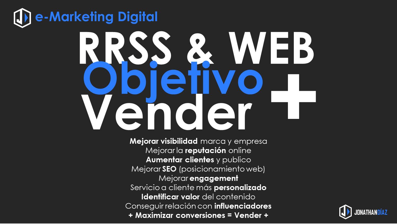 RRSS y WEB Objetivo Vender más